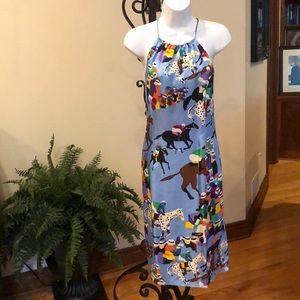 J. McLaughlin silk equestrian print dress